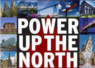 A campaign poster for The Power Up The North