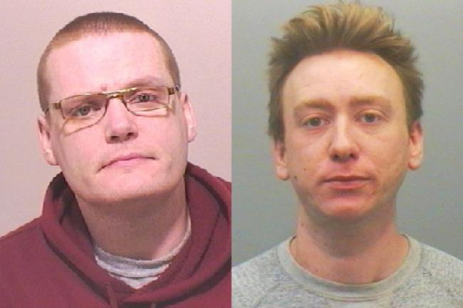 Marc Burton, left, and John Harrison have been jailed