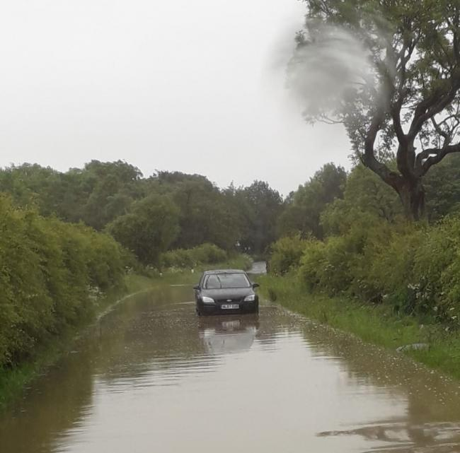 Wades Lane, near Haswell, will remain shut overnight (thursday) to allow flood water to drain away