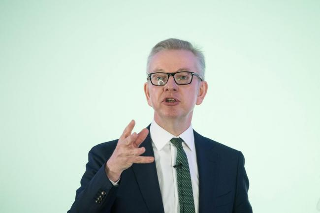 Environment Secretary Michael Gove launches his campaign in central London to become leader of the Conservative and Unionist Party and Prime Minister