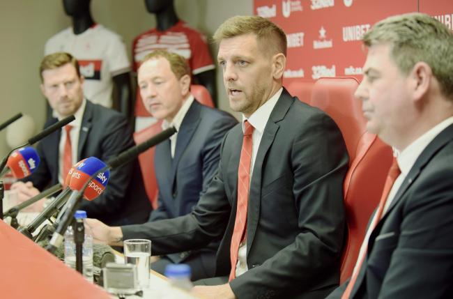 Jonathan Woodgate conducts his first press conference as Middlesbrough head coach (Picture: North News)